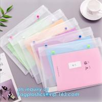 China A4 custom PP plastic file folder, document wallet with button, pp a4 decorative expanding file folders on sale