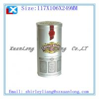 Quality round shape beatiful package wine tin box for sale