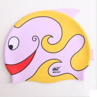 Wholesale Personalized Pink Silicone Kids Swimming Hats Toddler Swim Cap OEM from china suppliers