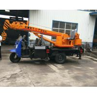 China Tricycle Hydraulic Truck Mounted Crane , 3- 5 Ton Lifting Mobile Truck Crane for sale