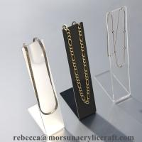 Customized counter top acrylic necklace holder for jewelry display from China supplier for sale