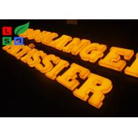 China 3D Logo LED Light Up Letters , Solid Arylic Illuminated Channel Letters For Shop Front Signage on sale