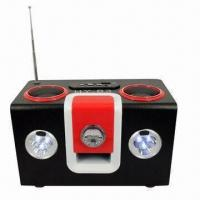Wholesale Wood Speaker with 6 LEDs Light for SD U-disk MP3 PC Phones from china suppliers