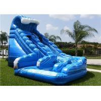 Wholesale Inflatable Water Slide , Blue Used Inflatable Commercial Water Slide For Rent from china suppliers