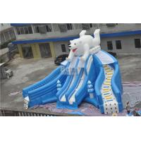 Wholesale Giant Beautiful New Bear Swimming Pool Slide , Inflatable Pool Slide For Amusement Park from china suppliers