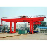 50 Ton Container Double Beam Gantry Crane , Spreader Overload Protection Industrial Gantry Crane for sale