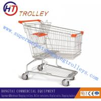 Wholesale Supermarket Wire Shopping Trolley Shopping Cart Unfolding With Four Wheels from china suppliers
