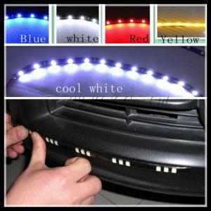 China Flexible 12 SMD 5050 LED Car Strip Light Decoration Lights Strip LED Daytime Running Light on sale