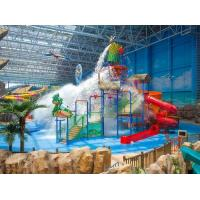 Wholesale Spray Small Green Water Playground Equipment Red / Blue Slide Water Playground from china suppliers