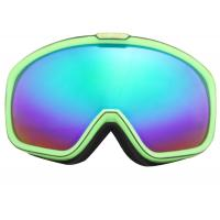 Quality Professional Blue Red Anti - fog Customized Ski Goggles With TPU Frame for sale