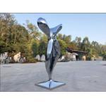 China Modern Mirror Stainless Steel Sculpture Abstract Garden Sculpture Public Decoration for sale