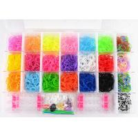 3200pcs Rainbow Loom Band Kits Silicone Wristband Bracelet with 22 Color for sale