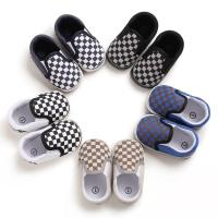 Wholesale Hot sale Canvas Checkered breathable 0-2 years slip on infant baby boy shoes from china suppliers