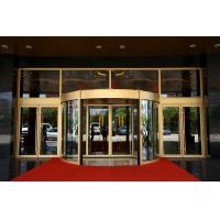 Wholesale Luxurious building entrance Automatic curved sliding door Of Aluminium / steel frame from china suppliers