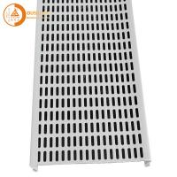 China 0.8mm Thickness Aluminium Strip Ceiling Panel Commercial Interior Perforated S Shape Hook for sale