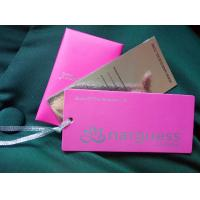Buy cheap Pink shining personalized design offset printing paper tags for fashion clothes from wholesalers
