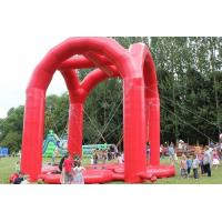Wholesale Safe 4 Person Adult Inflatable Games Red Inflatable Bungee Jumping from china suppliers
