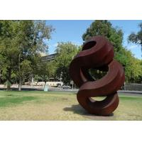 Wholesale Spiral Large Rusted Iron Sculpture , Modern Rusted Metal Garden Sculptures from china suppliers