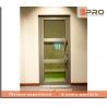Soundproof Aluminium Casement Door With Double Glazed Glass Color Optional for sale