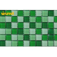 Wholesale Antifreeze Interior Building Wall Green Mosaic Tile With Mixed Chips from china suppliers