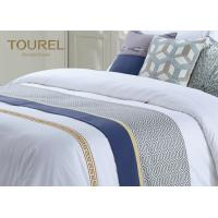 Wholesale Custom 3cm Stripe Hotel Bed Runners For Hotel Dubai Bed Sheet Set from china suppliers