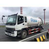 China Sanitation Sewage Cleaning Truck , Vacuum Sewage Suction Truck Easy Operation for sale
