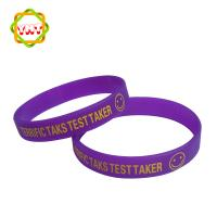 newest cheap custom silicon bracelet with printed logo 100
