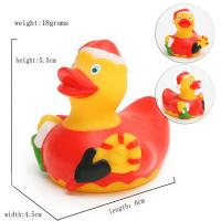 Promotional Gift Mini Christmas Rubber Duck With Santa Hat / Custom Logo 6P Free