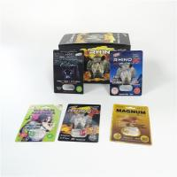 China Sexual Enhancement Pills Blister Card Packaging Rhino Series For Powder Sex Capsule Pack for sale