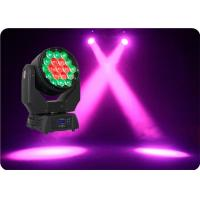 Wholesale Best Sellers 19×15w Zoom 7-60 Degree Ruchome głowy Zoom Wash Głowice LED Wash from china suppliers