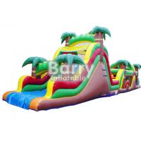 Wholesale Jungle Inflatable Obstacles Courses / Obstacle Course Jumpers With Slide from china suppliers