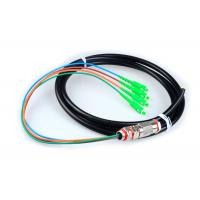 4 Core SC Fiber Optic Pigtail Cables Rodent Resistant Waterproof With Black Jacket for sale