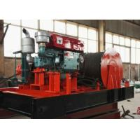 China 80KN Base Mounted Diesel Powered Winch For Marine,Construction 10 MT 25 Ton Industrial Winch on sale