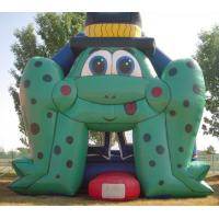 Wholesale Frog Durable 0.55mm PVC Outdoor Inflatable Bouncers With Air Blower from china suppliers