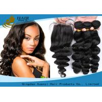 Buy cheap Soft Unprocessed 100% Virgin Brazilian Hair Top 6a Human Hair Extension from wholesalers