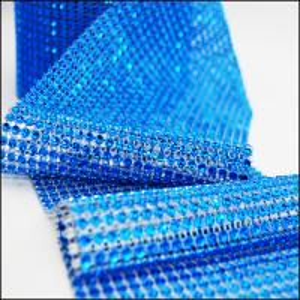 China Wholesale Diamond Mesh Ribbon Wedding Decoration Imitated Plastic Rhinestone Mesh on sale