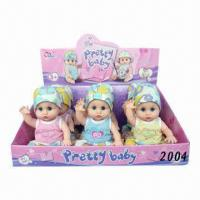 Wholesale 36cm Vinyl Pee Doll with Feeding-bottle, Battery Operated from china suppliers