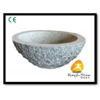 China Xiamen Kungfu Stone Ltd supply Rough Surface Granite Sink For Indoor Kitchen,Bathroom for sale