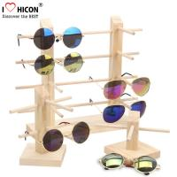Wholesale Countertop Colorful Waterproof Acrylic / Wood Sunglasses Display Rack from china suppliers