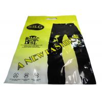 China Perforated Transparent Plastic Garment Packaging Bags For Pants , Gravure Printing for sale