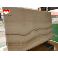 Wholesale Backlit White Wooden Onyx Book Matched 18mm Jade Onyx Slab from china suppliers
