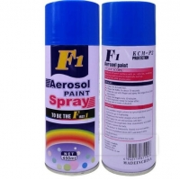 Wholesale Acrylic 400ML F1 Black Color Spray Paint 65*200mm from china suppliers