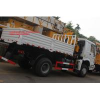 Buy cheap Sinotruk howo 4x2 crane mounted truck 10 ton xcmg telescopic boom crane from wholesalers