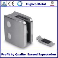 Stainless Steel Square Glass Clamp 70x55mm with Round Back Fit 10-15mm Glass for Staircase Glass Railing