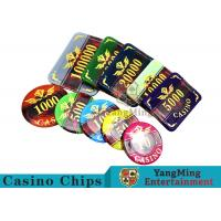 Wholesale 760 Pcs ABS Plastic Poker Card Sets , Casino Dedicated Custom Poker Set from china suppliers