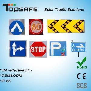 Wholesale Aluminum Flashing Solar LED Traffic Warning Sign LED Display from china suppliers