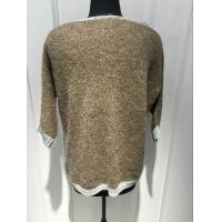 Plush Hand Feel Oversized Knit Sweaters Pullover With Wool Nylon Alpaca Material