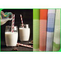 China Durable Food Grade Kraft Paper For Paper Straws 100% Recyclable 60GSM 120GSM for sale