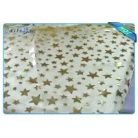 Wholesale Diposable Golden Star Printed Non woven Tablecloth Roll / Piece For Christmas Decoration from china suppliers