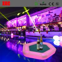 Wholesale Plastic Outdoor Amusement Equipment Illuminated Flaoting Playing Card Table For Water Party from china suppliers